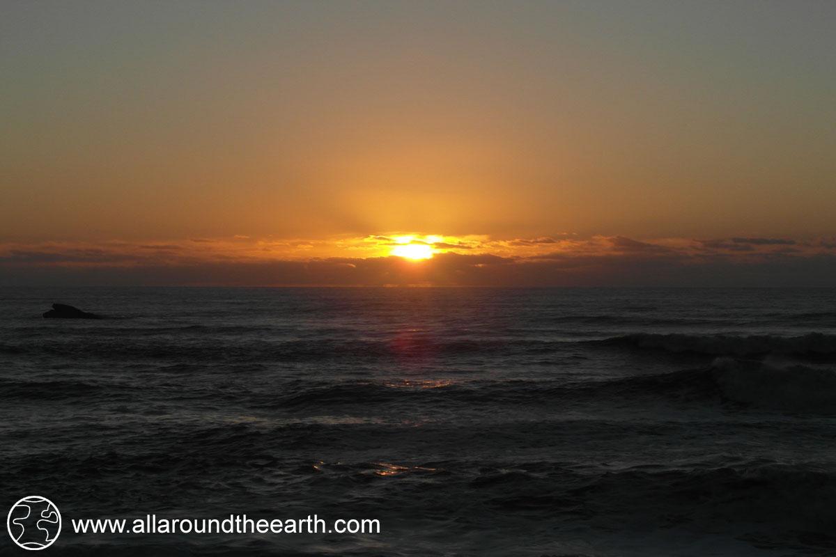 Sunset at Kohaihai Campsite on the West Coast of New Zealand's South Island
