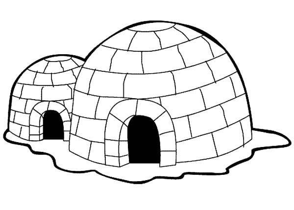 how to draw a iglu