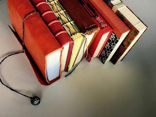 libreta o libros en blanco