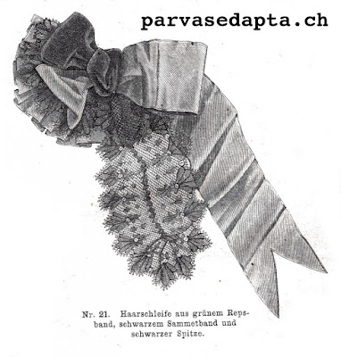 The Vintage Pattern Files: Free 1800's Sewing Pattern - Hair Accessory