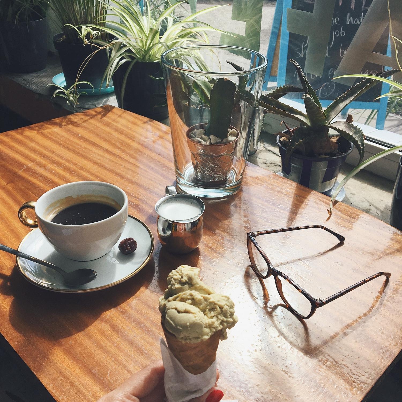 sopotas kava ir ledai