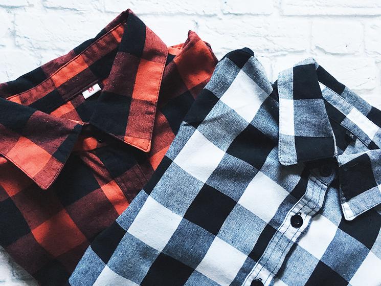 Zakupy na aliexpress, koszule w kratę