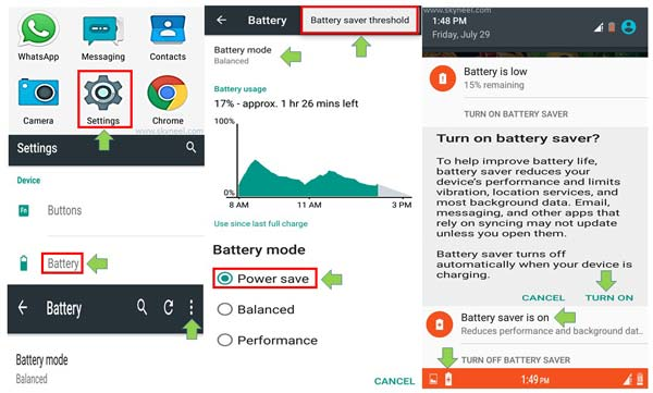 how to save battery on Android phone without app