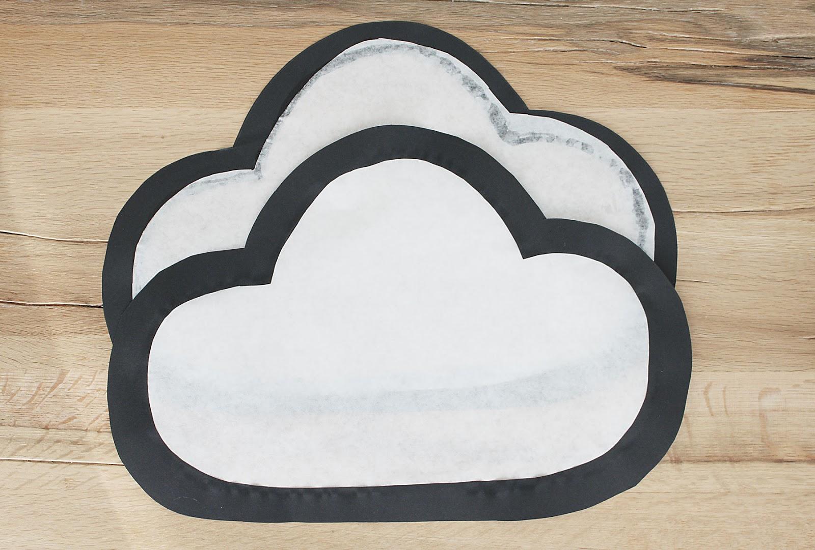 Laterne basteln in Form einer Wolke Schritt 3