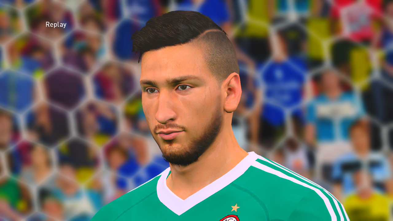 PES 2017 Gianluigi Donnarumma Face by Ahmed Tattoo & Facemaker