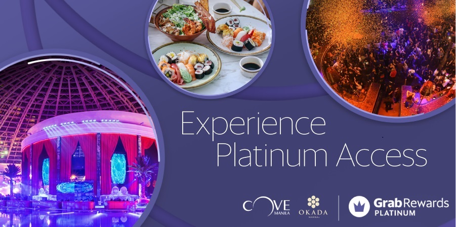 GRABRewards Platinum Exclusive, FREE ENTRANCE to Cove Manila!