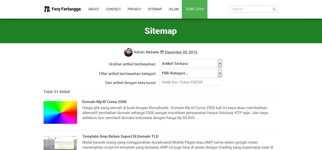 sitemap blog amp