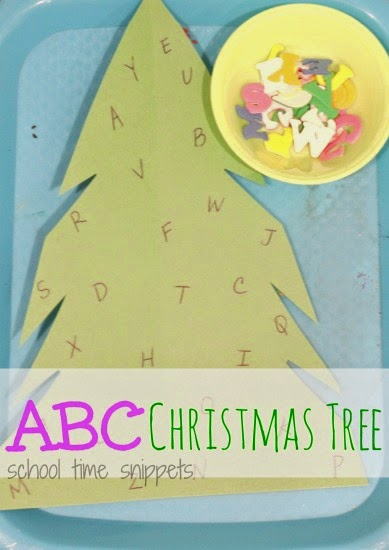 Alphabet Christmas Tree for Toddlers