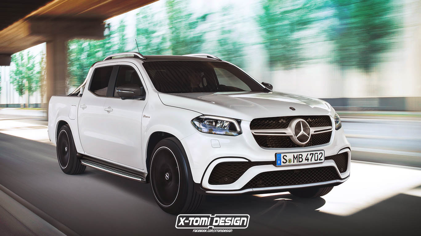 mercedes amg x63 pickup is unlikely food for thought