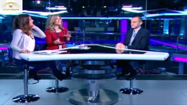 فيديو.. موقف محرج جدا لمذيعة لبنانية دون الانتباه أنها على الهواء !