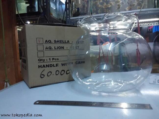 Gambar Harga aquarium bulat ukuran / berkapasitas 12 liter air