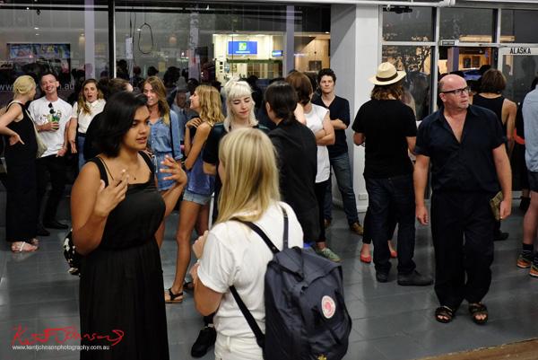 Opening night at Alaska Projects on William Street, Street Fashion Sydney.
