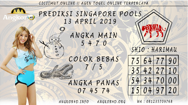 Prediksi Angka Jitu SINGAPORE POOLS 13 APRIL 2019