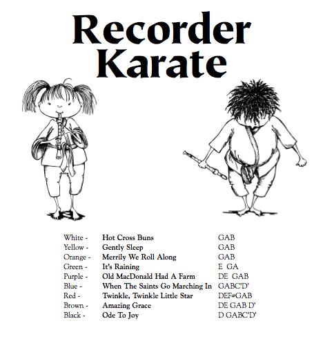 Music With Mr. Barrett: RECORDER KARATE!!!