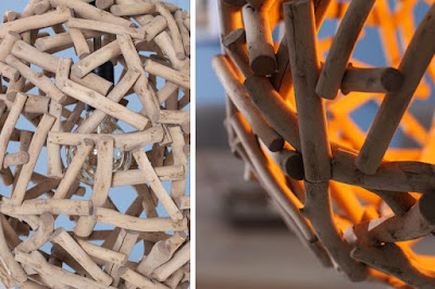 lampy Reaction, drevený nábytok, závesné lampy