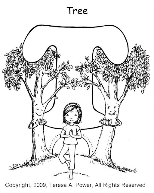 yoga coloring pages for kids - photo#2