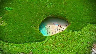 Playa oculta de las Marietas. México