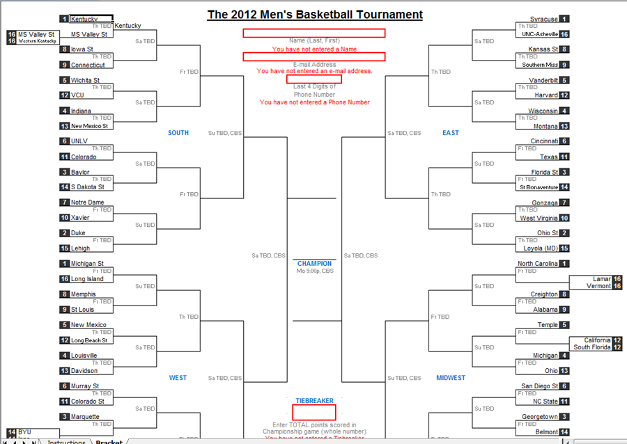 Percussion and Drum Stuff: 2012 March Madness