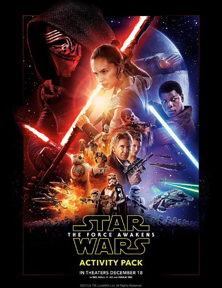 Libro de Actividades de Star Wars el Despertar de la Fuerza para ...