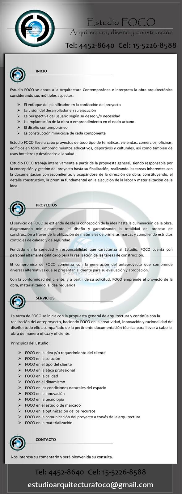 ESTUDIO DE ARQUITECTURA, DISEÑO Y CONSTRUCCIÓN