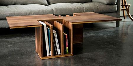 Wooden Bookshelf Table