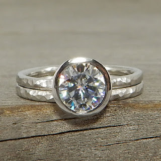 palladium moissanite rings