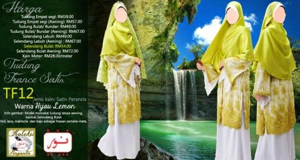 selendang pengantin muslimah cantik labuh