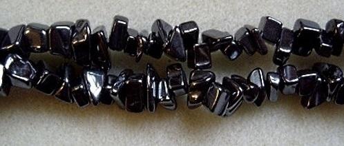 hematite chip beads