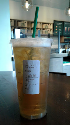 Starbucks Trenta Green Iced Tea free refill