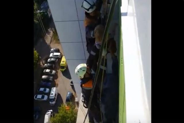 ВУфе 3-летняя девочка ночевала накозырьке балкона на15этаже