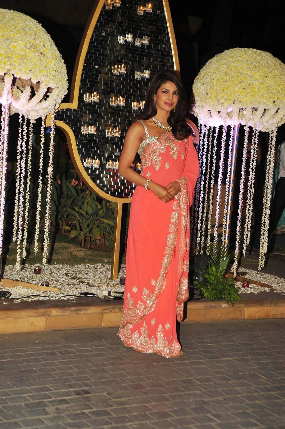 Priyanka Chopra Latest Hot Stills In Pink Saree