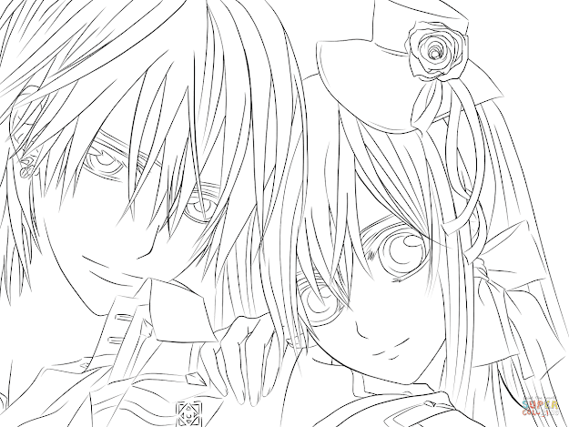 Click The Yuki  Zero From Vampire Knight Coloring Pages