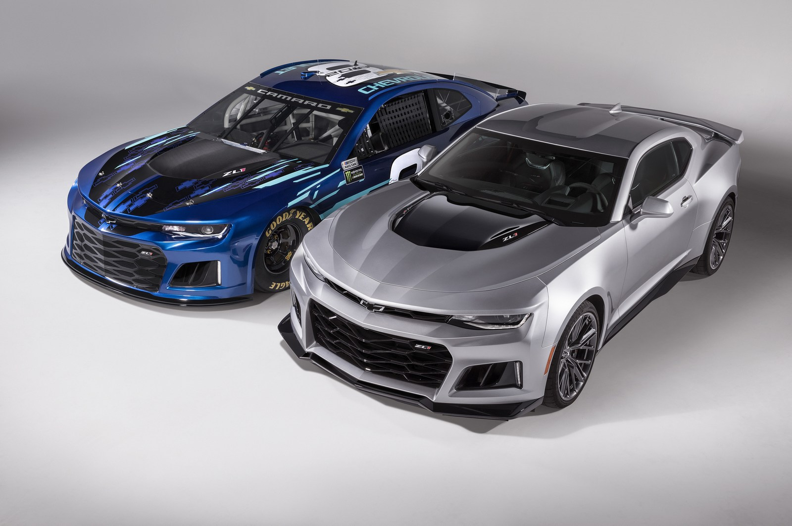 2018 Chevrolet Camaro Zl1 Race Car Unveiled For The Monster Energy Nascar Cup Series