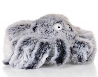fuzzy spider slippers