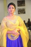 Actress Eesha in Yellow Choli Blue Ghagra at Darshakudu music launch 045.JPG