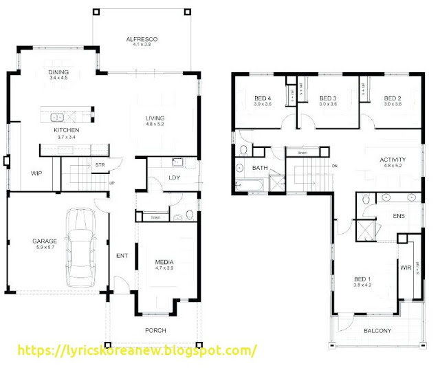 2 Storey Residential House Floor Plan Philippines Design
