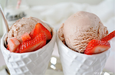 Strawberry Malted Milk Ice Cream, Homemade Ice Cream, Ice Cream Recipe, Strawberry Malt