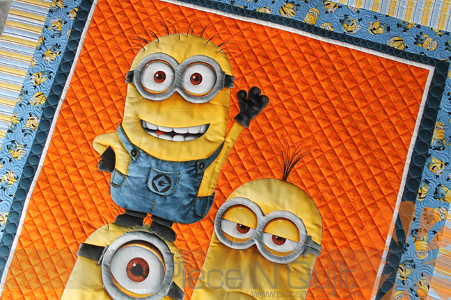 Piece N Quilt: Minion Quilt - Custom Machine Quilting by Natalia ... : minion quilt - Adamdwight.com