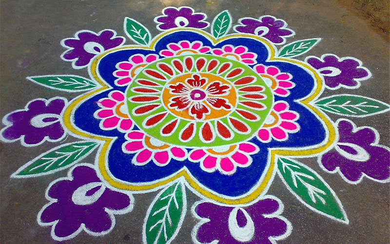 new rangoli design