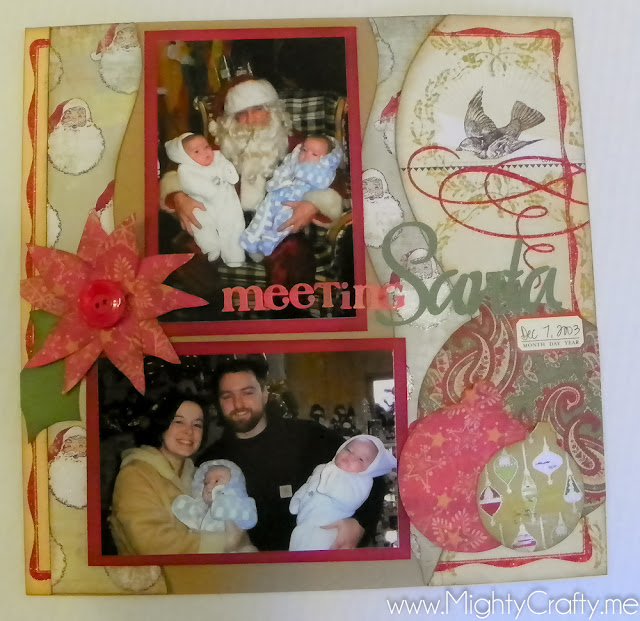 Meeting Santa - www.MightyCrafty.me