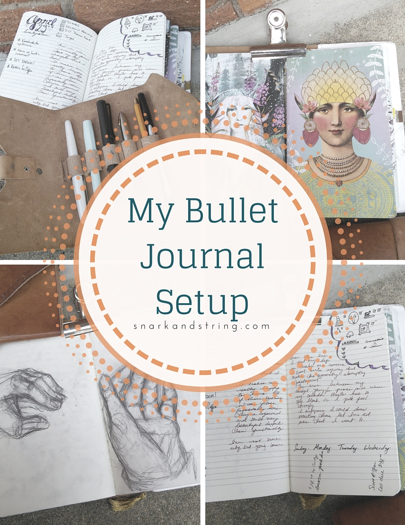 Part 1 Bullet Journaling Set Up And Diy Snark And String