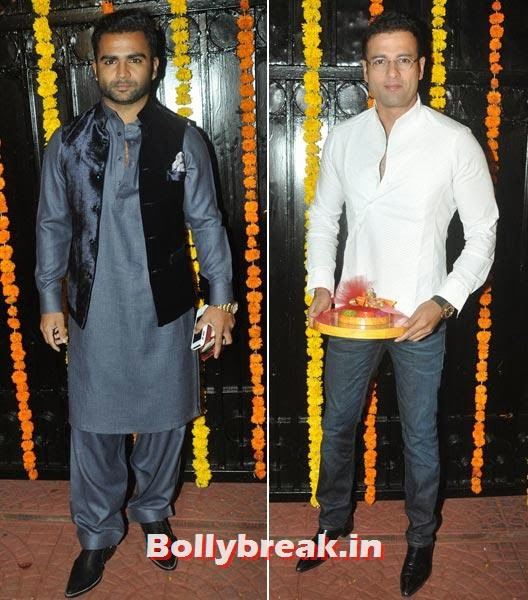 Sachin Joshi and Rohit Roy, Ekta Kapoor's Diwali bash 2013