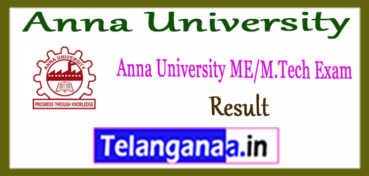 Anna University M.E M.Tech 1st 3rd 5th 7th Semester result 2017