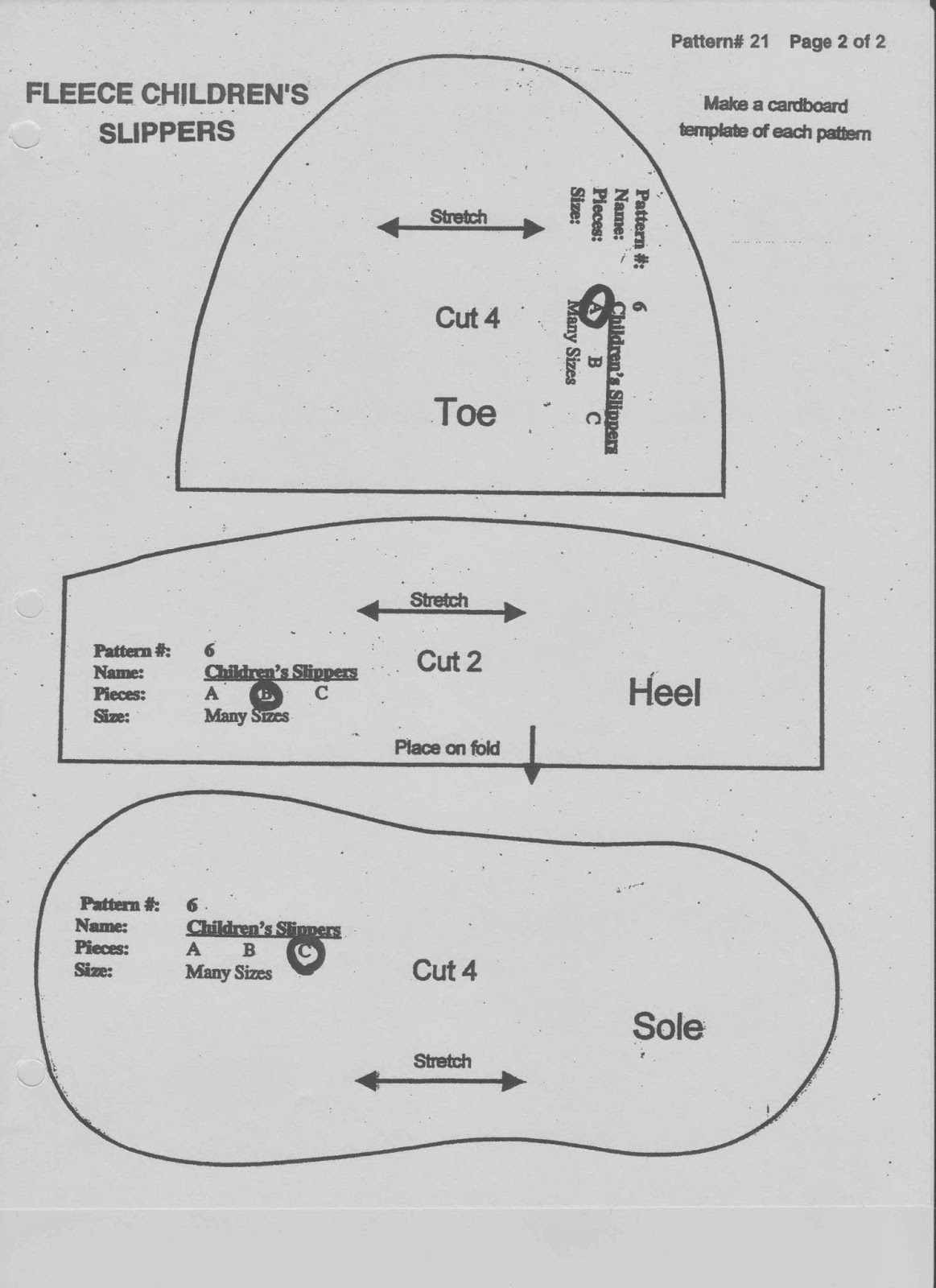 Free Printable Baby Shoe Sewing Pattern