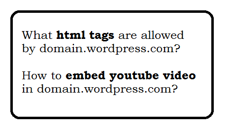 What html tags are allowed by wordpress.com?