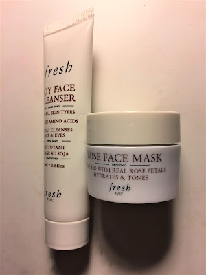 Sephora Fresh Soy Face Cleanser and Rose Face Mask