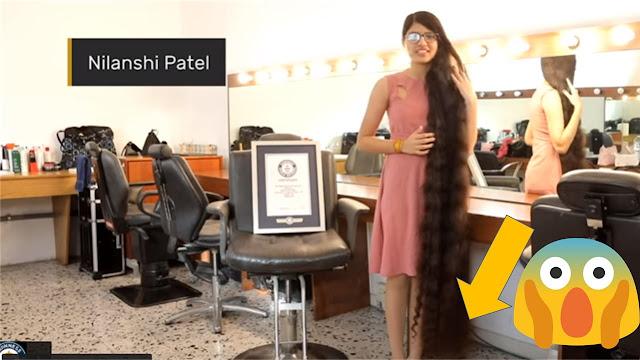 Adolescente hindú tiene el cabello más largo del mundo. Establece récord Guinness