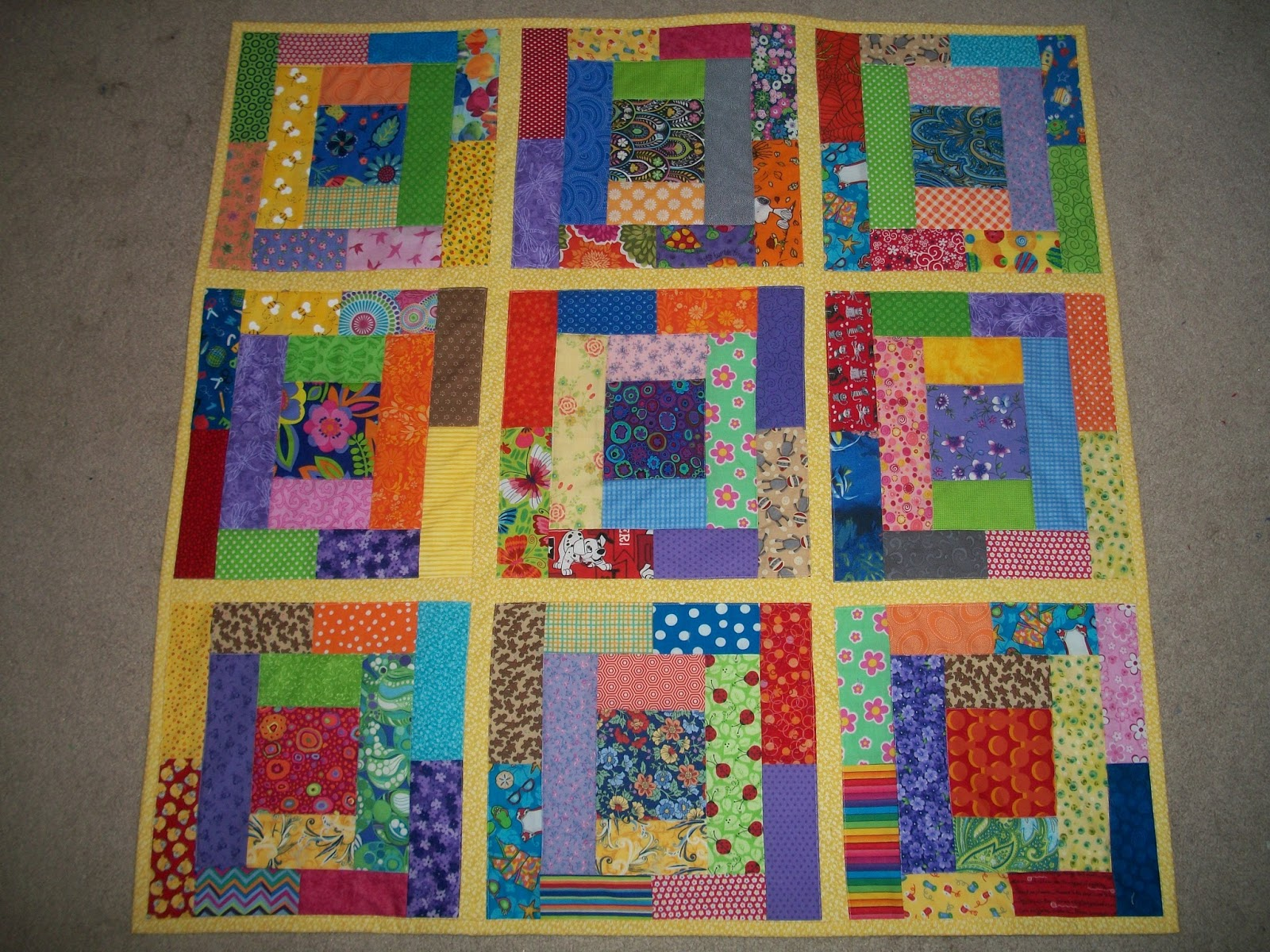 Sew Cook and Travel: 2018 RSC January Light Blue, RSC 16-Patch Quilt ...