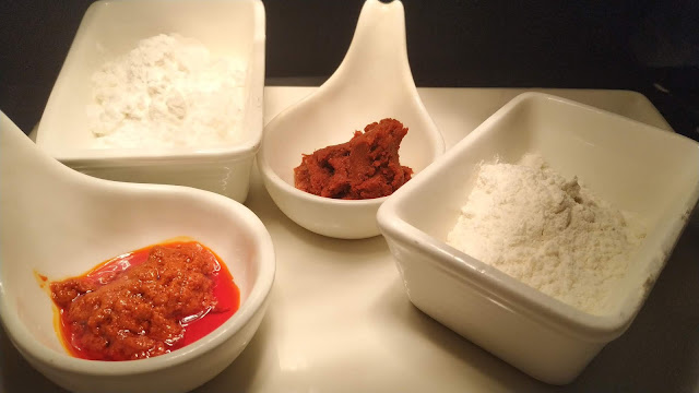 Thai Red curry paste Red Chilly Paste Corn flour All purpose flour Food recipe dinner ideas