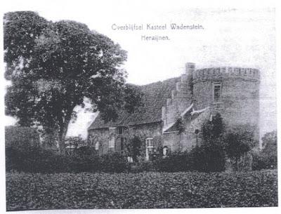Voormalig kasteel Wadestein bij Herwijnen